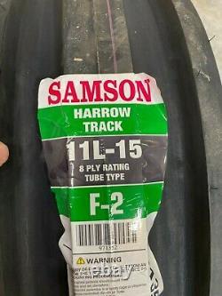 1 New 11 L 15 Tire & Tube Samson F-2 3 rib 8 ply TT Tractor Front 11L