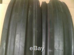 2 9.5-15 3-Rib F-2 Front Tractor Tires 9.5 15 FREE Ship Farm 8 ply Tubeless