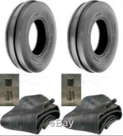 (2) New 6.00-16 600X16 6.00X16 8 PLY Rib Imp DISC, WAGON Farm Tractor Tires+Tubes