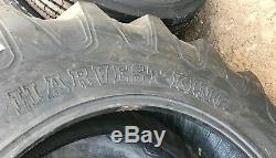 2 New Tires & 2 Tubes 11.2 24 Harvest King R-1 Tractor Rear 8ply TT 11.2x24 USAF