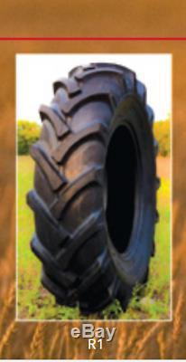 2 New Tires & 2 Tubes 13.6 24 K9 Ag Tractor Rear R1 8 Ply 13.6x24 Farm DOB