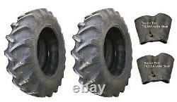 2 New Tires & 2 Tubes 14.9 28 Harvest King R1 Tractor Rear 8 ply TT 14.9x28 FS