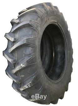 2 New Tires & 2 Tubes 18.4 34 Harvest King R-1 Tractor Rear 8ply TT 18.4x34 USAF