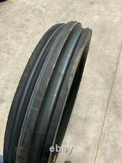 2 New Tires & 2 Tubes 5.00 15 Deestone F-2 3 rib 4ply TT 5.00x15