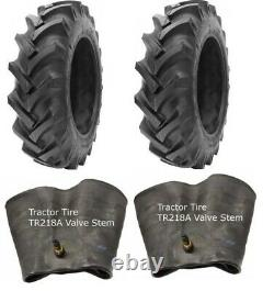 2 New Tractor Tires & 2 Tubes 12.4 24 GTK R1 8 ply TubeType 12.4x24 FS