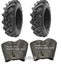 2 New Tractor Tires & 2 Tubes 13.6 36 GTK R1 8 ply TubeType 13.6x36 13.6-36 FS