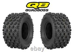 2 Quadboss Sport ATV Rear Tires 20X10X9 20X10-9 4 PLY QBT739 (pair)