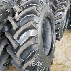 (2-TIRES + TUBES) 13.6x28,13.6-28 12 PLY Tractor Tires 13628 FREE SHIPPING
