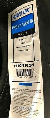 2 Tires & 2 Tubes 9.5 L 15 Harvest King 4 Rib F-2M Tractor Front 8ply TL 9.5L-15