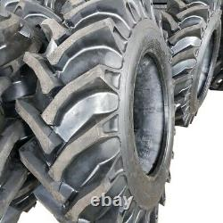(2-Tires NO TUBES) 14.9-28 KNK50 8 PLY Rear TRACTOR TIRES 14.9x28 Backhoe