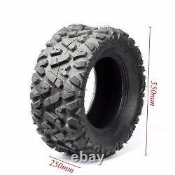 25x10-12 Tubeless Tyre Tire 6 Ply For Wheeler Go kart ATV Quad UTV TaoTao
