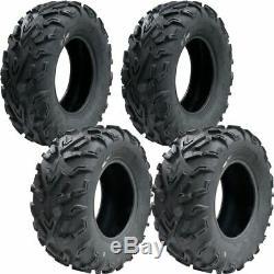 25x8-12 25x10-12 Ocelot P3055 P3056 6-ply Atv / Utility Tires (4 Pack)