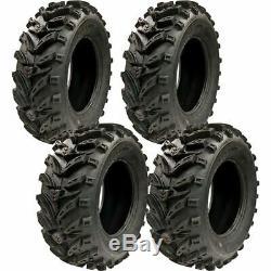 25x8-12 25x10-12 Q375 6-ply Atv / Utv Tires (4 Pack)