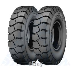 2PK 825x15 TIRES WITH TUBES FLAPS 8.25-15 TIRES FORKLIFT TIRES 16 PLY