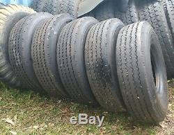 (5) Goodyear G114 10.00R15TR Tube Type Load J 18 Ply HD Trailer Tires 99%