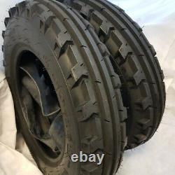 7.50-16 (2 TIRES + 2 TUBES) 6 PLY ROAD CREW KNK-30 Farm Tractor 7.50x16