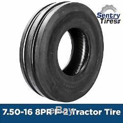 7.50-16 8 Ply Duramax D-500 F2 AG 3RIB Tractor Tire (1 Tire+1 tube) 7.50x16