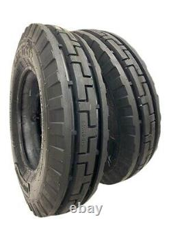 7.50-16 (TIRES + TUBES) 10 PLY ROAD CREW ST2 3-Rib Farm Tractor 7.50x16