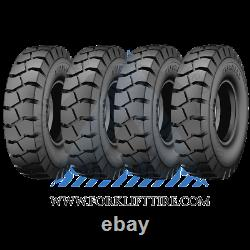 700-12 14 PLY 700x12 FORKLIFT TIRE + TUBE + FLAP 7.00-12 7.00x12 70012 4x TIRES