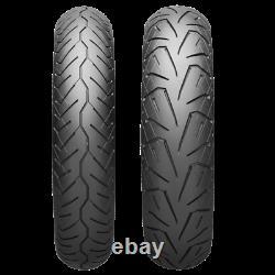Bridgestone H50 130/80-17 Front & 180/65-16 Rear Blackwall Bias Ply Tire Set