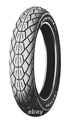 Dunlop F20 Qualifier 110/90-18 Front Bias Ply Tubeless Tire 61V White Letters