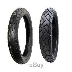 Front and Rear 6 PLY Motorcycle Tires Set 100/90-19 & 130/80-17