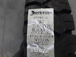 Genuine Denman 7.00-15 Tube Type 12-ply Tire Assembly, Blackwall