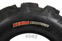 Kenda Executioner 25x8-12 6 PLY Tire 2 Pack with 25x8-12 TR-6 Inner Tube 2 Pack