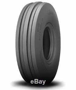 One New 4.50-10 Bridgestone 4 ply 3-Rib Front Tractor Tire & Tube 450 10