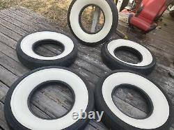 Qty Lot 5 Tires Lester Tire Company WIDE Whitewall 8.25-16 Bias Ply Tube Type