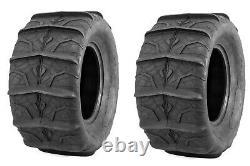 QuadBoss UTV SXS Sand Dune Rear Paddle Tires QBT346 6 Ply 28X13-14 (Pair)