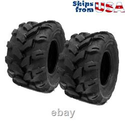 SET OF TWO (2) 18x9.5-8 Tires 4 Ply Lawn Mower Garden Tractor Turf Grip Tread