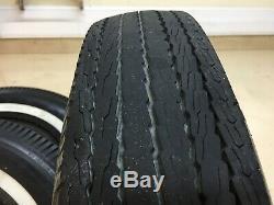 Set of 4 Tires 6.70 X 15 White wall Bias Ply