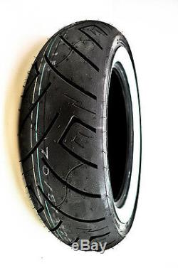 Shinko 777 Heavy Duty Whitewall Rear 4-Ply Tire 150/90-15 TL 80H 87-4591