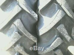TWO 12.4x24 FORD, JOHN DEERE R 1 8 ply Tube Type Tractor Tires