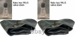 TWO (2) 5.50-16 5.50X16 550-16 55016 Tri-Rib 3-Rib F-2 Tires & Tubes 6Ply Rated