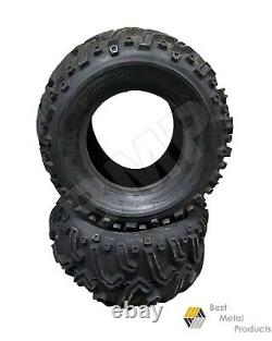 TWO 26x12-12, 26x12x12, 26x12.00-12 Tractor, Lawn Mower, ATV Tire 4 Ply -1400139