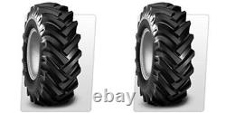 (TWO) 5.00-15 5.00x15 BKT Traction I3/R-1 LUG Trencher Tires &Tubes 6ply Rated