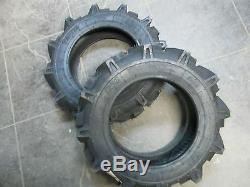 TWO 5x12, 5-12 YANMAR KE-160 R-1 AG LUG 4 Ply Garden TT Tractor Tires