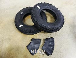 TWO 7.50-16 BKT TF-8181 Vintage Tread Front Tractor Tires 8 ply WITH Tubes