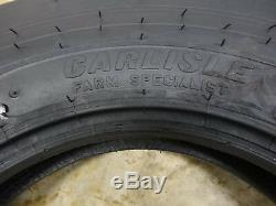 TWO 7.50-16 Carlisle Tri-Rib 3 Rib Front Tractor Tires 8 ply USA made with tubes