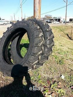 TWO 8.3X24,8.3-24 CUB FARMALL Six ply Tractor Tires with Tubes