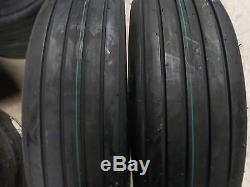 TWO 8.5L-14, 8.5Lx14 Rib Implement Tractor Tires with Tubes 6 ply