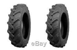 (TWO) ATF Brand 6.00-12 Traction R-1 Lug Tractor Tires & Tubes 6 Ply Rated HD