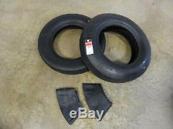 TWO New 6.00-16 Farmboy I-1 Farm Rib Implement Tires WITH Tubes 6 ply