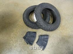 TWO New 6-14 Bridgestone Farm Service Diamond Turf Tread Tires WITH Tubes 4 ply