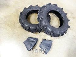TWO New 8-16 DuraMax AG Deep Lug Compact Tractor Tires 6 ply WITH Tubes