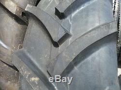 Two 13.6x24 R-1 8 ply John Deere 2950 Tractor Tires Tube Type