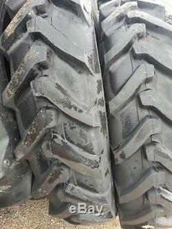 Two 13.6x38, 13.6-38 8 ply Ford-New Holland 7635 Tube Type Tractor Tires