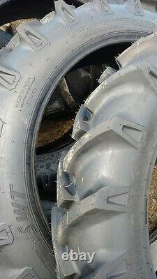 Two JOHN DEERE H 9.5x32 6 Ply Tube Type Rear Tractor Tires